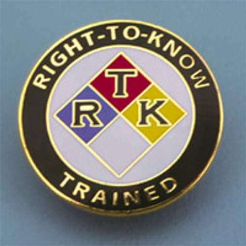 Right To Know Trained Badge