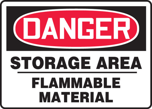 Danger - Storage Area Flammable Material