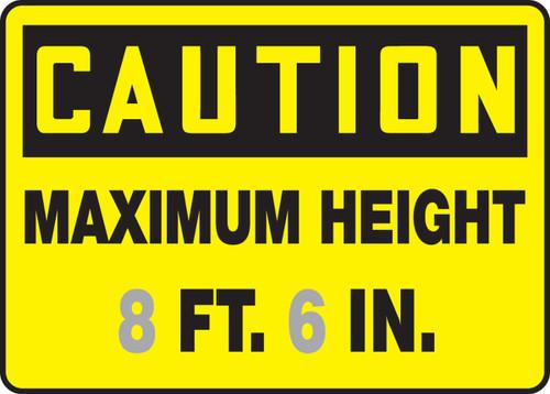 Caution - Maximum Height ___ Ft. ___ In.