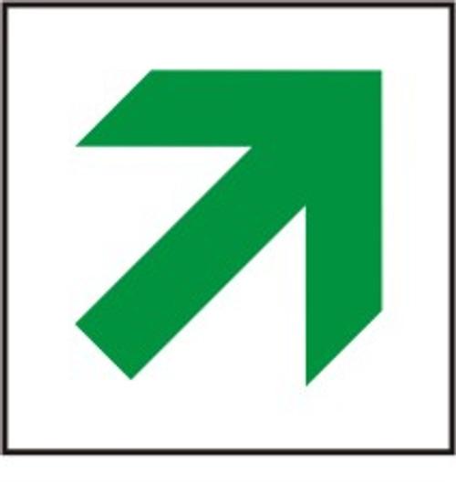 Exit Route Arrow Diagonal