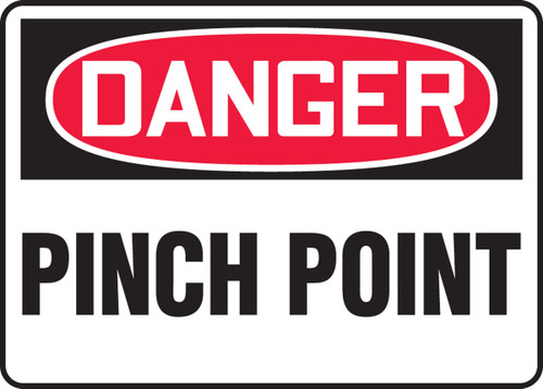 Pinch Point Safety Sign