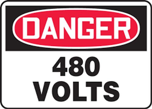 Danger - 480 Volts - Re-Plastic - 10'' X 14''