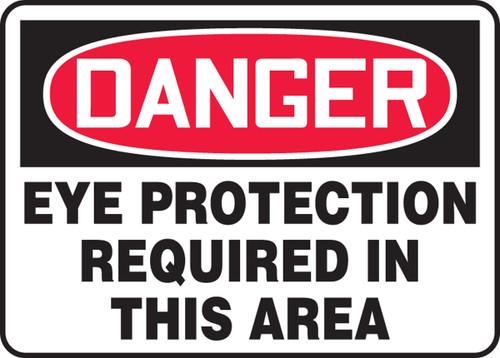 Danger Eye Protection Required In This Area
