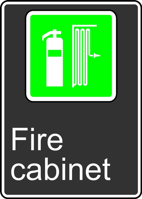 Fire Cabinet (Cabinet D'Incendie) - Adhesive Vinyl - 14'' X 10''