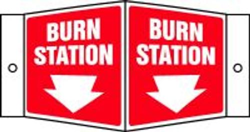 Burn Station Sign (arrow) 3d