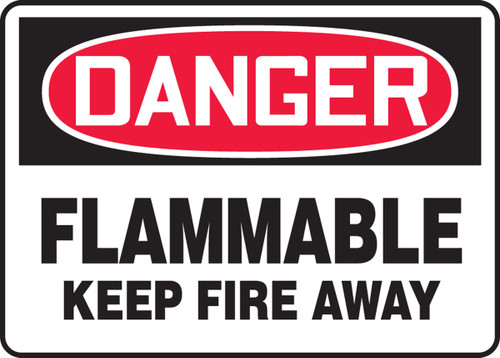 Danger - Flammable Keep Fire Away - Accu-Shield - 10'' X 14''