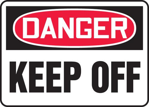 Danger - Keep Away - Adhesive Dura-Vinyl - 10'' X 14''