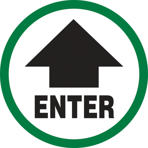 Enter Sign with arrow