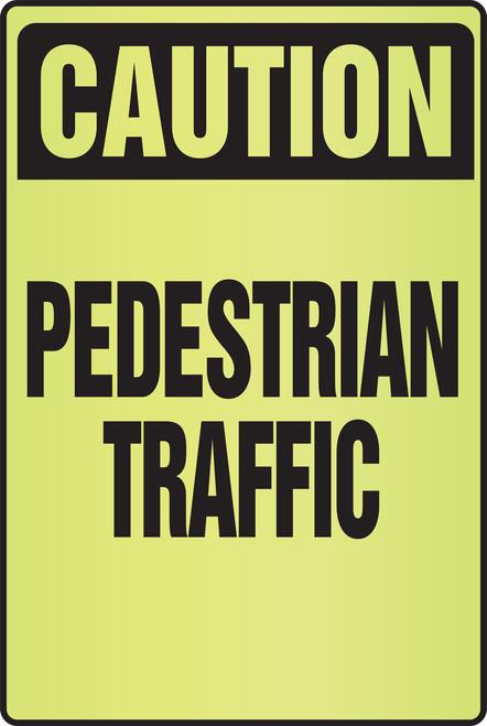 Caution Pedestrian Traffic Fluorescent Alert Sign