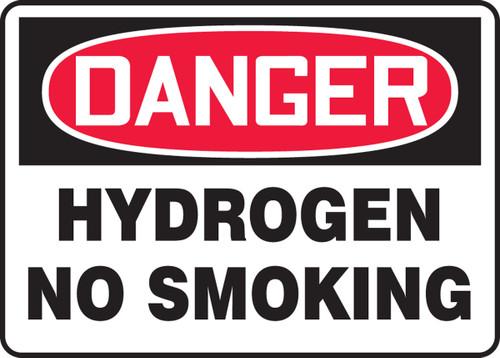 Danger - Hydrogen No Smoking