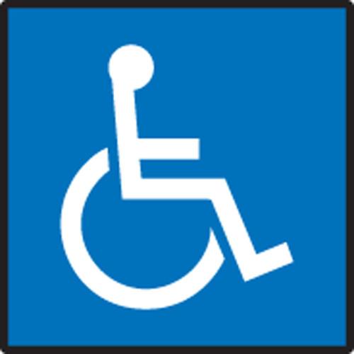 Handicap Symbol - Re-Plastic - 6'' X 6''