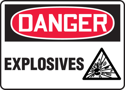 Danger - Explosives Sign with Graphic