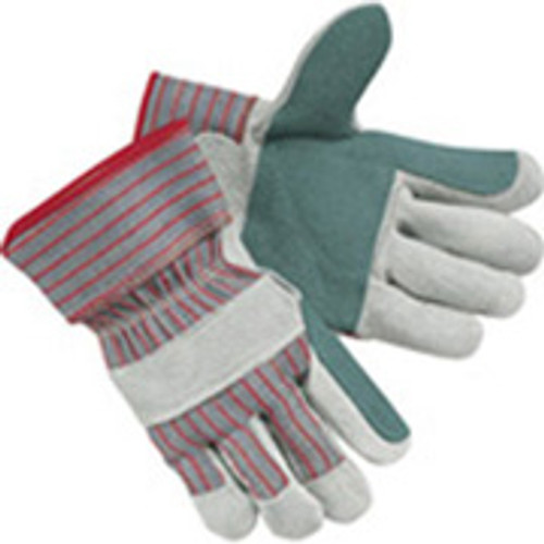 Work Gloves- Jointed Double Leather Palm LARGE - DZ