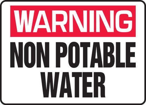 Warning - Non Potable Water