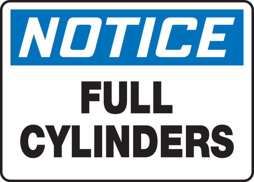 Notice - Full Cylinders - Re-Plastic - 7'' X 10''