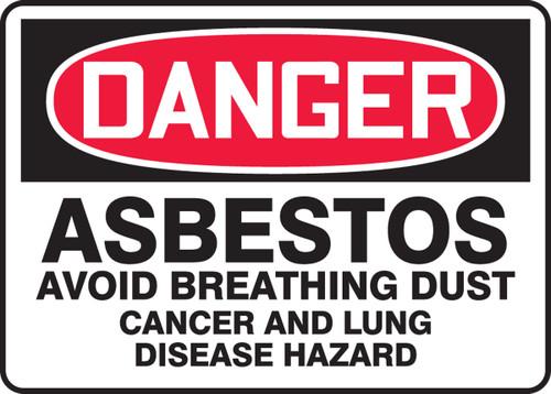Danger - Asbestos Avoid Breathing Dust Cancer And Lung Disease Hazard