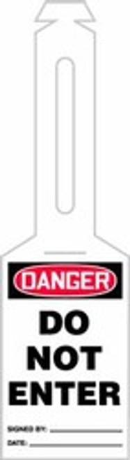 Danger Do Not Enter Loop Safety Tag
