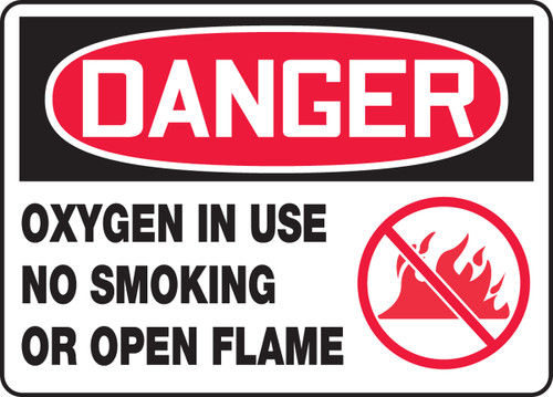 Danger - Oxygen In Use No Smoking Or Open Flames