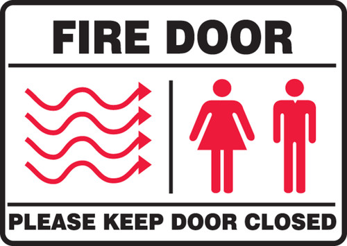 fire door please keep door closed sign MEXT447VS