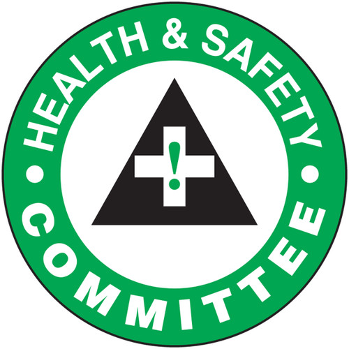 """Health And Safety Committee Hard Hat Label- 2 1/4"""" 10/pkg"""