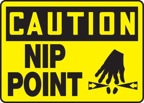 Caution - Nip Point Sign