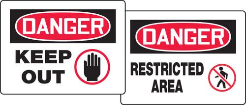 Danger Keep Out / Danger Restricted Area Quik Fold Ups Sign Insert (insert only)