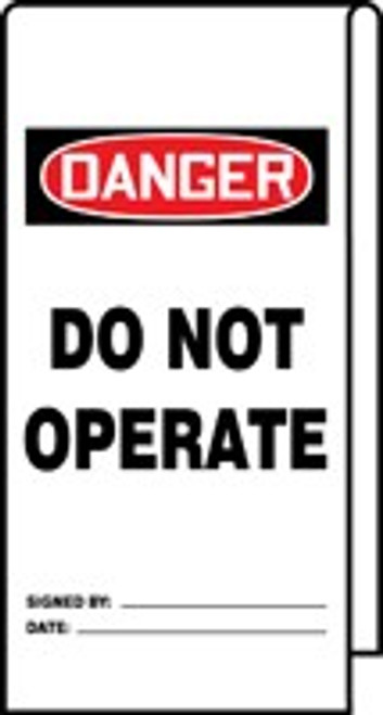 Danger Do Not Operate Wrap n Stick Tag