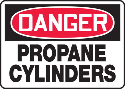 Danger - Propane Cylinders