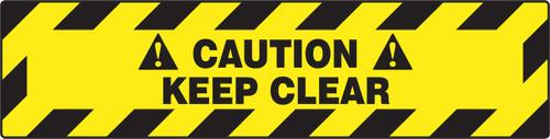 Caution Keep Clear- Slip Gard Border Floor Sign