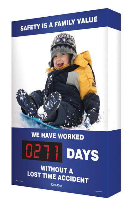 Digi Day Plus Outdoor Safety Scoreboard for Outdoor Use- Accuform SCM322