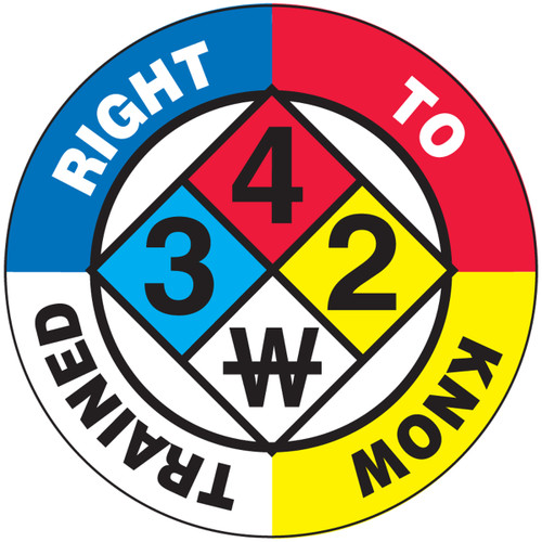Right To Know Trained Hard Hat Label