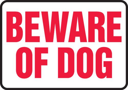 Beware Of Dog - Adhesive Dura-Vinyl - 10'' X 14''