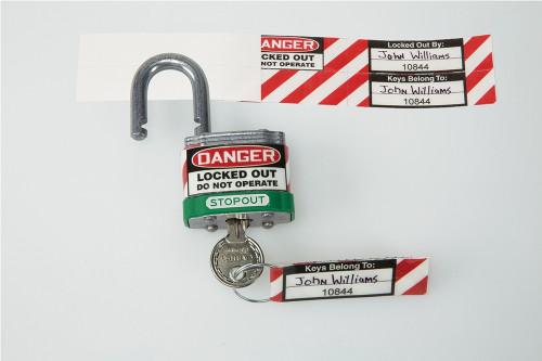 padlock and key ID label set LAK175