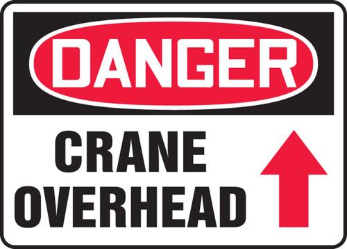 Danger - Crane Overhead Sign Arrow Up