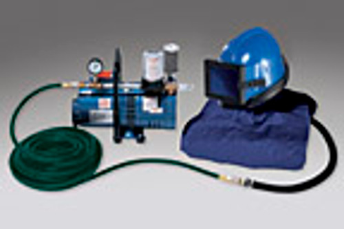 Abrasive Helmet Low Pressure System One Worker, 50 foot hose