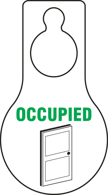 Occupied Door Hanger Tag