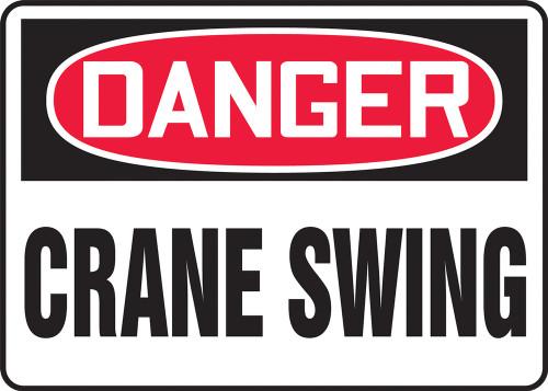 Crane Swing Sign - Danger