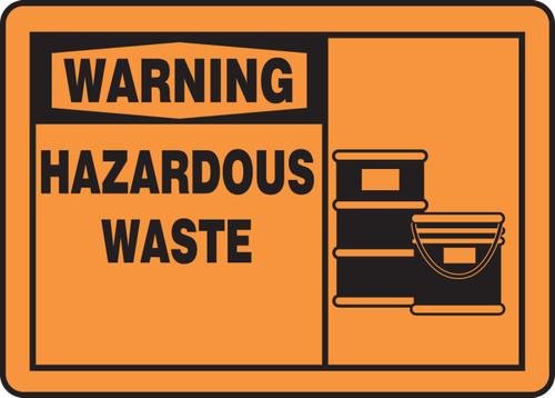 Warning - Hazardous Waste Sign