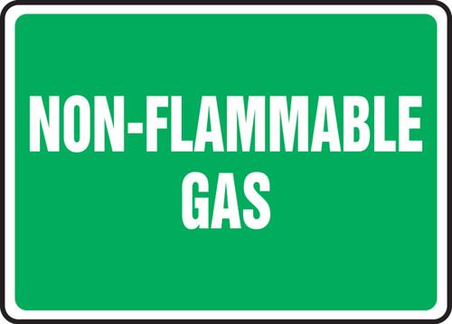 Non-Flammable Gas - Plastic - 10'' X 14''