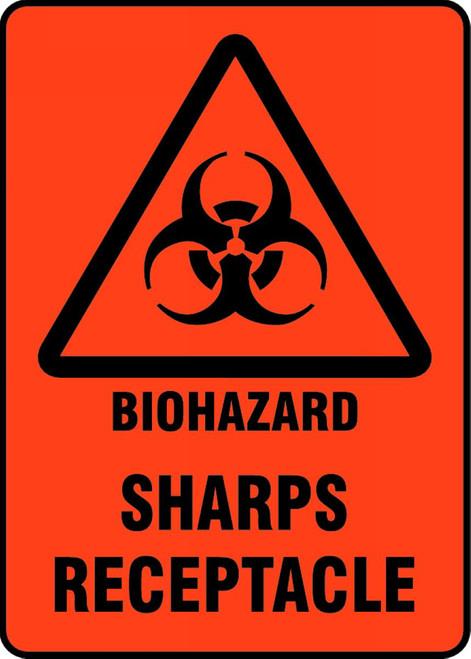 MBHZ516VA Biohazard Sharps Receptacle Sign