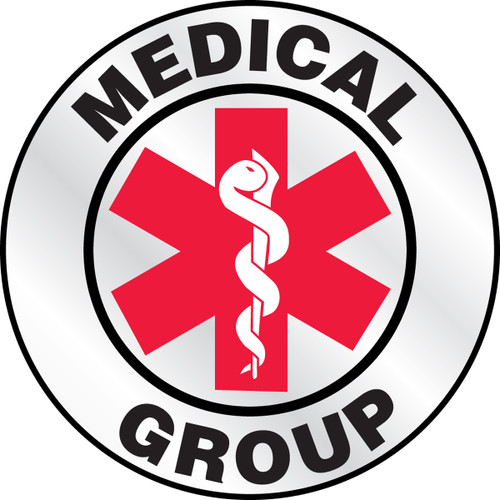 """Medical Group Helmet Label 2 1/4""""- Priced By The Each"""