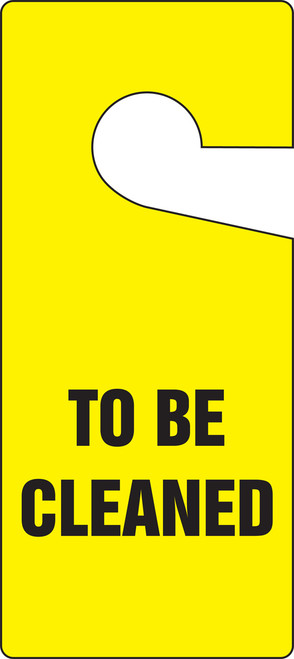 To Be Cleaned Door Knob Hanger Tag