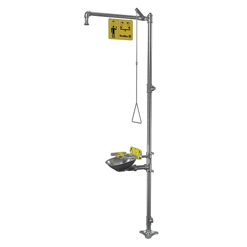 Bradley S19314BFSS Stainless Steel Emergency Shower Eyewash Barrier Free