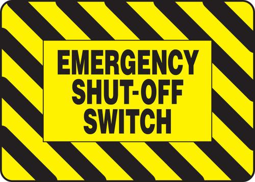 Emergency Shut Off Switch - Re-Plastic - 7'' X 10''