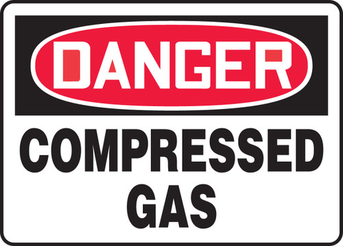 Danger - Compressed Gas - Dura-Plastic - 7'' X 10''