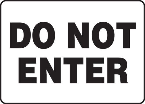 Do Not Enter - Plastic - 7'' X 10''