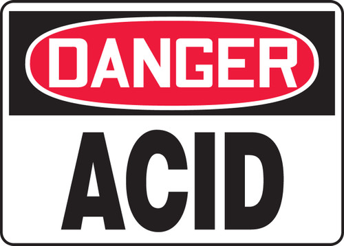 Danger - Acid - Adhesive Vinyl - 10'' X 14''