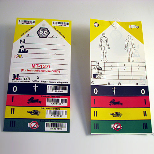 Triage Tag (50 tags per package)
