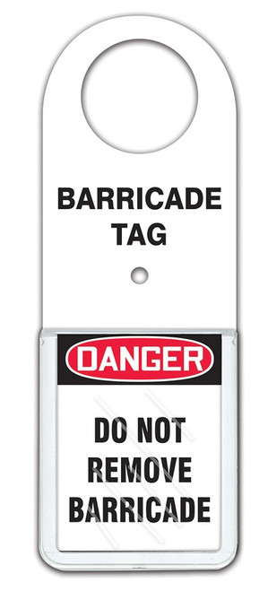 Barricade Status Alert Tag Holder