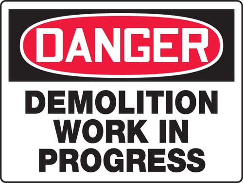 danger demolition work in progress MCRT119VP